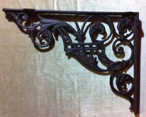 Winkel Wandhalterung Eisen Antik rustikal Regalbretter Regalwinkel Wand Antik