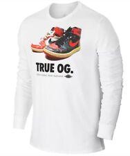 Nike Air Jordan RETRO 1 - True OG - White Long Sleeve T-Shirt (807469 100) - MED