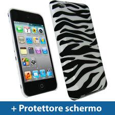 Nero/Bianco Custodia Rigida per Apple iPod Touch 4G Case Cover Protezione