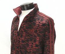 ADIDAS Track Jacket Originals 3 Stripe Burgundy/Black Linear BQ1572 Men's M $100