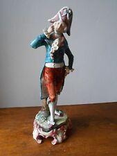 Ancien Personnage porcelaine.Statuette XIXème.34 cm.Antique porcelain statuette