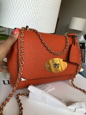 Mulberry Lily Handbag Brand New With Tags Bright Orange RRP £795 Genuine Soldout