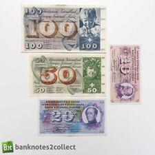 More details for switzerland: set of 4 swiss franc banknotes.