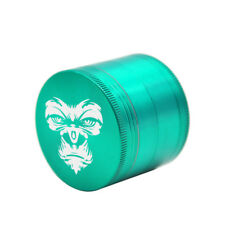 KING KONG    Herb Grinder 4Layers 50MM Zinc Alloy With Sharp Diamond Teeth Green