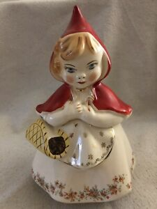 Little Red Riding Hood Cookie Jar - 967 - Nice See Photos -  Pre-Owned