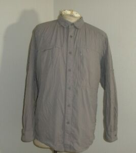 The North Face Mens XL Shirt Boulder Gorge striped Long Sleeve Super Soft Vented