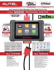 Autel MX808 as MK808BT Full Systems Diagnostic Service Tool OBD2 Tablet ScanPAD