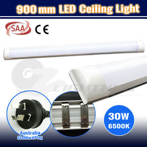 90CM LED 30W Batten Ceiling Lamp Fluorescent Tube Office Panel Bar Light 3FT