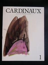 CARDINAUX N° 1 Revue art PLOSSU OPALKA BALTZ MOSSET SANEJOUAND KIRKEBY DESIGN
