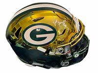 Brett Favre Green Bay Packers Signed Autograph Chrome Inlay Flex Helmet Radtke