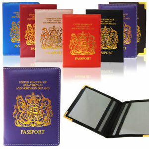 NEW PASSPORT HOLDER FOR UK AND EUROPEAN  LOGO PASSPORT PROTECTOR COVER WALLET