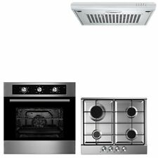 Cookology 60cm Built-in Electric Fan Oven Gas Hob & Extractor Hood Pack