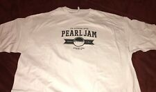 PEARL JAM - Chicago Wrigley white SETLIST evening 2013 T-Shirt size XXL cubs 2xl