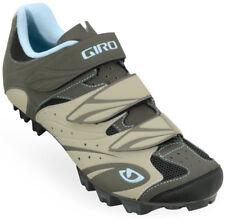 Giro Riela Women's MTB Mountain Bike Shoes Khaki/Brown/Sky 37.5 (US 6.25)
