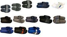Mens Slip On Sport Sandals Slides Rubber Flip Flops Shower Slippers Pool Beach