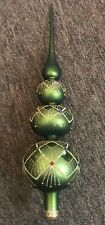 Krebs 15� Glass Tree Topper Green