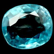 Zircon bleu en coussin facetté de 3.08Cts