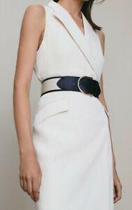 Massimo Dutti, Kleid, Reverskleid, neu, ivory Impression, Viskose Gr. M 38, 40