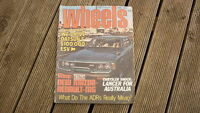 OLD AUSTRALIAN CAR MAGAZINE, WHEELS JUNE 1984 NISSAN DATSUN ESV, CHRYSLER LANCER