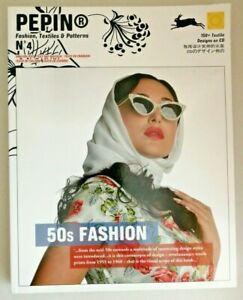 50s Fashion (Pepin Fashion, Textiles & Patterns No.4) Complete with CD.