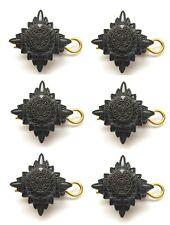 British Army Bronze Rank Pips Stars X 6 Badges Regulation Issue  (nsn138)