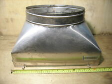 "13"" x 17"" Stainless Steel Single Flue to 13"" Diameter Round Chimney Adapter Used"