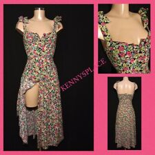ZARA Floral Midi Dress Full Front Buttons XS *BNWT* Strappy Multicoloured Easter