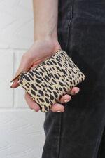 brandy melville brown cheetah print mini coin purse NWT