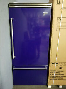 "Viking 36"" Bottom Freezer Refrigerator w/ Air Purifier in Cobalt Blue Beautifull"
