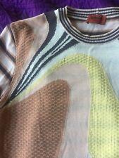 MISSONI Men Knit Striped Jacket Cardigan Sweater shirt Coat small euro 48 kiton