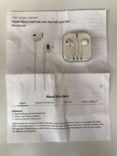 Genuine APPLE EarPods with 3.5mm Headphone Plug / Headset with Remote & Mic