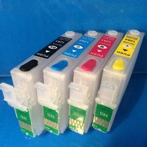 Set Refillable Empty Ink Cartridges Epson Stylus S22 SX125 SX130 SX225W Non OEM