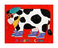Coco dowley COOL COW poster stampa d'arte immagine 51x61cm-SPEDIZIONE GRATUITA