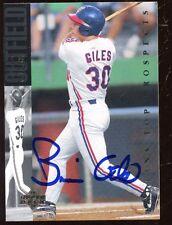 1994 Upper Deck Baseball Card #27 Brian Giles Autographed NRMT