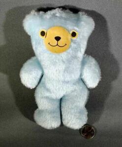 Small LIGHT BLUE TEDDY BEAR Flat Body Sticker Face Cute Weird Little Bitty