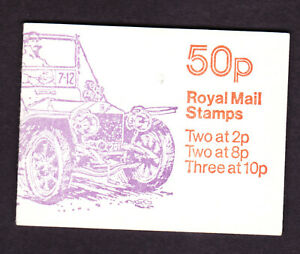 Great Britain 50p booklet Veteran cars No 1good perfs, FB10A fine,