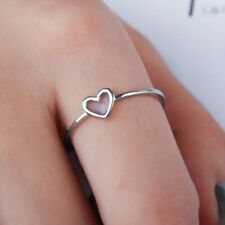 Women Fashion Love Heart Ring Simple Promise Friendship Rings Jewelry Size 7