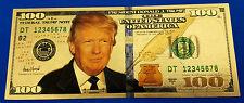 Donald Trump Gold Bank Note Dollar Bill 4th July 1776 President Leader Legend US