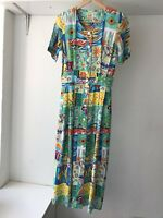 OJAY Womens Vintage Midi Dress, Size 8, European Fabric