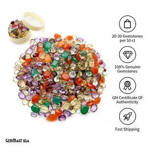 Natural Loose Gemstone Mixed Gems Carat Lot Mix Faceted Cut Semi Precious Stone