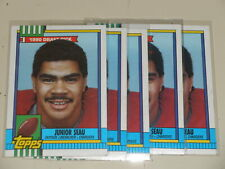 1990 Topps Junior Seau Six Card Rookie Lot #381 CHARGERS