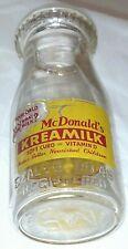 McDonald's Kreamilk half pint milk bottle Flint MI Michigan ONLY ONE ON EBAY!