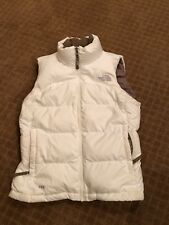 The North Face Womens White Full Zip '700' Puffer Goose Down Vest SZ S