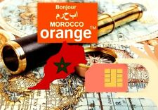 NEW! Active MOROCCO Orange SIM card / roaming, nano maroc Saudia Kuwait Emirates