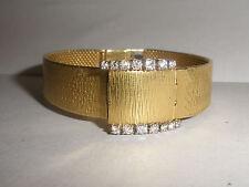Exquisite Vintage Bucherer lady's 18K diamonds watch LU Chopard 17j 18k band