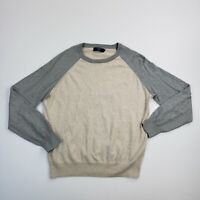 J Crew Adult Cotton Cashmere Crewneck Pullover Men's Long Sleeve Sweater Shirt L