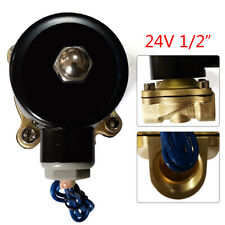 Air Gas Viton N/C 1/2 Inch Npt 24V Ac Brass Electric Solenoid Valve Ac Water