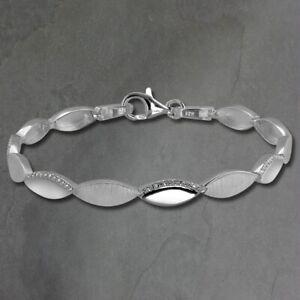 Silberdream Bracelet Femme Elegance 925 Argent Véritable 19cm Blanc SDA453W