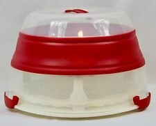 Martha Stewart Cupcake Carrier Holder 24 Baking Plastic Collapsible Portable Red