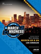 2018 NCAA TOURNAMENT WEST REGIONAL PROGRAM LOS ANGELES MICHIGAN IN STOCK